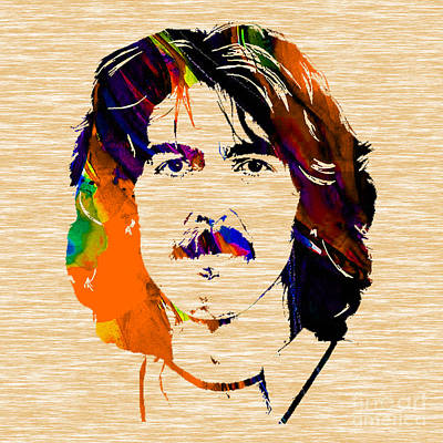 Rock And Roll Mixed Media - George Harrison Collection by Marvin Blaine