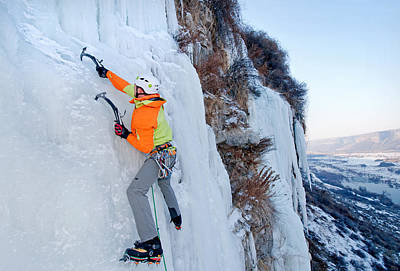 Sports Royalty-Free and Rights-Managed Images - Ice Climb by Elijah Weber