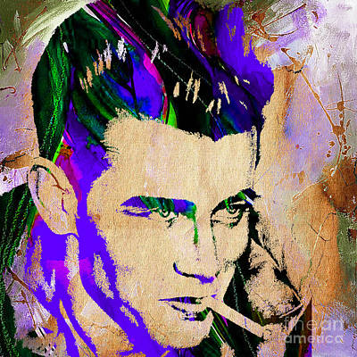 Icon Mixed Media - James Dean Collection by Marvin Blaine