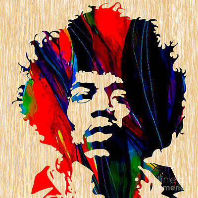 Guitar Mixed Media - Jimi Hendrix by Marvin Blaine