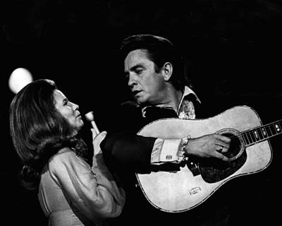 Gospel Music Photograph - Johnny Cash by Retro Images Archive