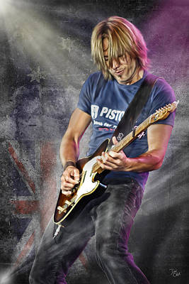 Keith Urban Art Print by Don Olea