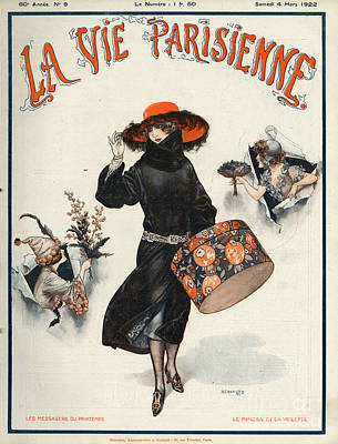 Drawing - La Vie Parisienne  1922 1920s France by The Advertising Archives