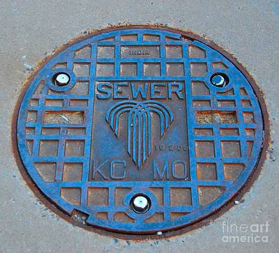 Photograph - Man Hole Covers Kc by Bob Brents