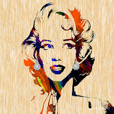 Marilyn Monroe Diamond Earring Collection Art Print by Marvin Blaine