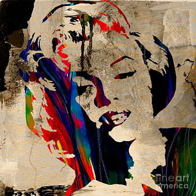Portrait Mixed Media - Marilyn Monroe by Marvin Blaine