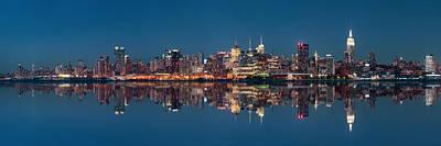 Blue Hues - Midtown Manhattan skyline by Songquan Deng
