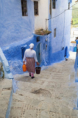 Water Jug Photograph - Morocco, Chefchaouen Or Chaouen by Emily Wilson