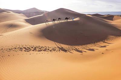 Sahara Photograph - Morocco, Erg Chegaga (or Chigaga by Emily Wilson