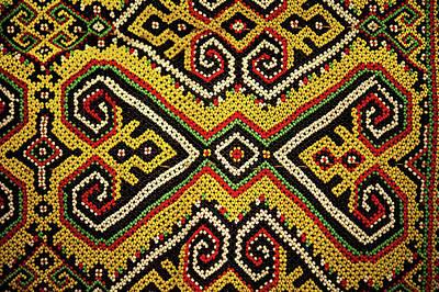 Folk Art Photograph - Motif From Antique Asian Textile (pr by Jaina Mishra