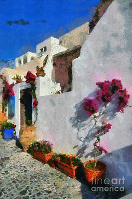 Painting - Oia Town by George Atsametakis
