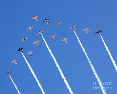 Photograph - 16 Plane Team by Debra Thompson