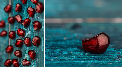 Closeup Photograph - Pomegranate by Nailia Schwarz