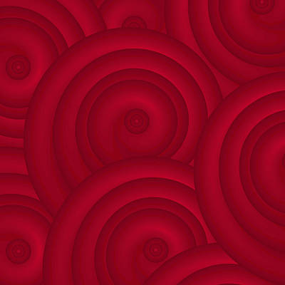 Organic Forms Painting - Red Abstract by Frank Tschakert
