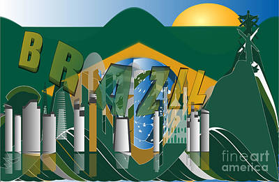 Abstract Skyline Rights Managed Images - Rio de Janeiro skyline Royalty-Free Image by Michal Boubin