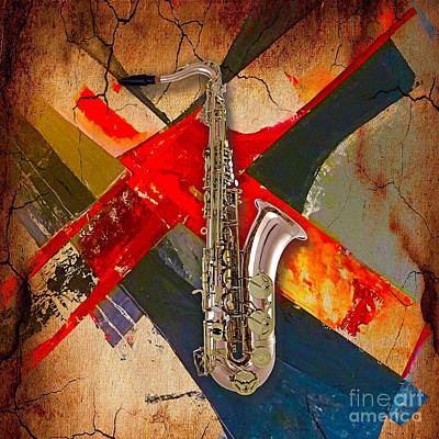 Saxophone Collection Art Print
