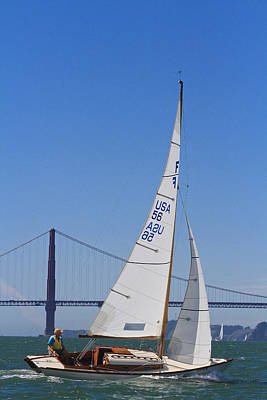 Photograph - Sf Bay Sailing by Steven Lapkin