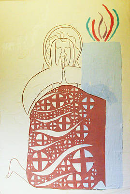 Painting - The Wise Virgin by Gloria Ssali