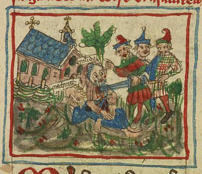 Travels Of Sir John De Mandeville Art Print