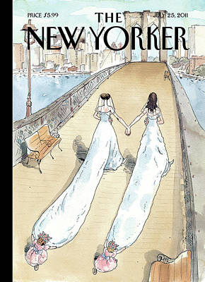 Brooklyn Bridge Painting - New Yorker July 25th, 2011 by Barry Blitt