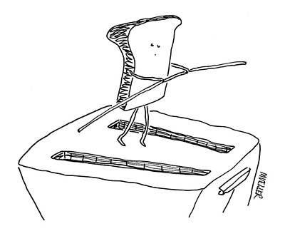 Toaster Drawing - New Yorker November 24th, 2008 by Peter Mueller