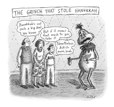 Dr. Seuss Drawing - New Yorker December 12th, 2016 by Roz Chast