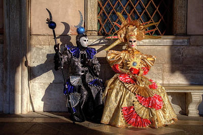 Doges Palace Photograph - Venice At Carnival Time, Italy by Darrell Gulin