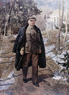 Bolshevik Painting - Vladimir Lenin (1870-1924) by Granger