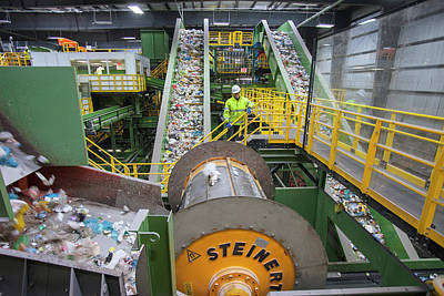Terminal Photograph - Waste Sorting At A Recycling Centre by Peter Menzel