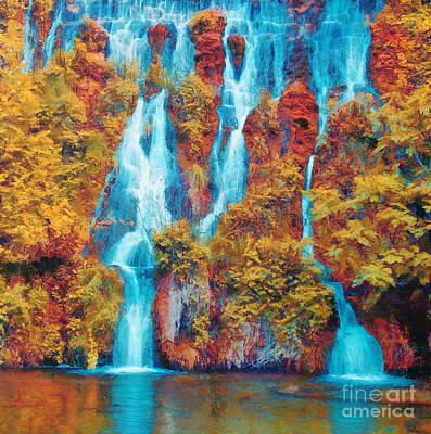 Waterfall Art Print by Odon Czintos