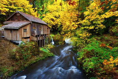 Grist Mill Photograph - 1600 by Darren  White