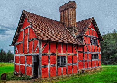 Painting - 1600s English Farm by Omaste Witkowski