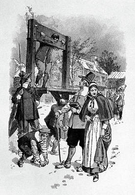 1600s Man In Pillory For Punishment Art Print
