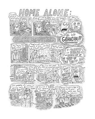 Mistake Drawing - New Yorker December 17th, 2001 by Roz Chast