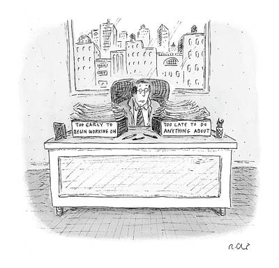 Box Drawing - New Yorker December 6th, 2004 by Roz Chast