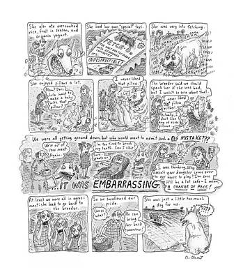 Puppies Drawing - New Yorker November 12th, 2001 by Roz Chast