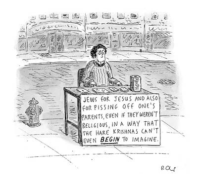Religion Drawing - New Yorker October 25th, 2004 by Roz Chast