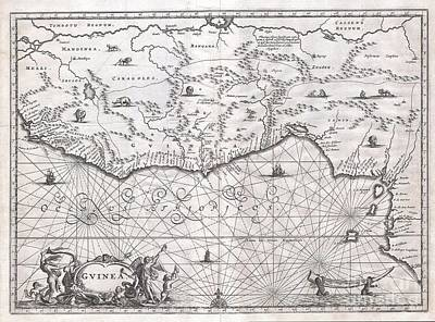 1670 Ogilby Map Of West Africa  Gold Coast Slave Coast Ivory Coast Art Print