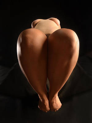 Photograph - 1680 Full Figure Nude Knees by Chris Maher