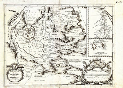 1690 Coronelli Map Of Ethiopia Abyssinia  And The Source Of The Blue Nile Geographicus Abissinia Cor Art Print by MotionAge Designs