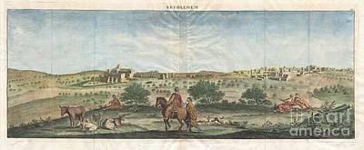 1698 De Bruijin View Of Bethlehem Palestine Israel Holy Land Art Print by Paul Fearn