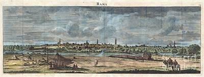 1698 De Bruijin View Of Rama Israel Palestine Holy Land Art Print by Paul Fearn