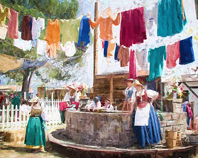 Painting - 16th Century Washday by Ike Krieger