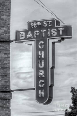 Photograph - 16th Street Baptist Church Sign II by Clarence Holmes