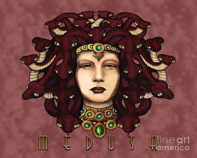 Gorgon Drawing - 16x20 Medusa Rose by Dia T