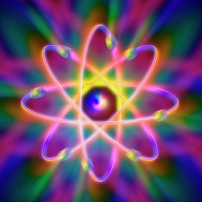 Atom Photograph - Atomic Structure by Alfred Pasieka