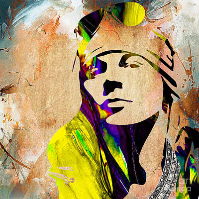 Musicians Mixed Media - Axl Roxe Collection by Marvin Blaine