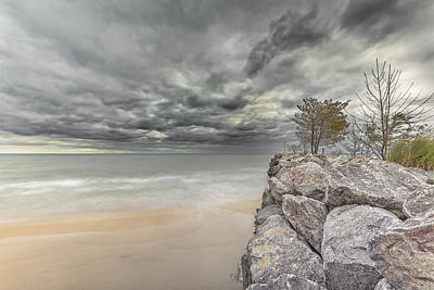 Photograph - Breakwater by Peter Lakomy