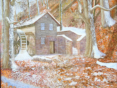 Grist Mill Painting - 17 Centry Ghrist Mill by Jim Ivey
