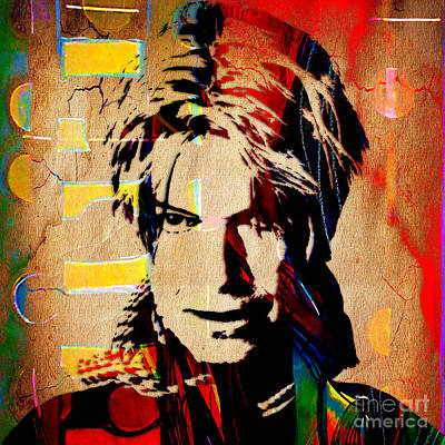 Rock Art Digital Art - David Bowie Collection by Marvin Blaine